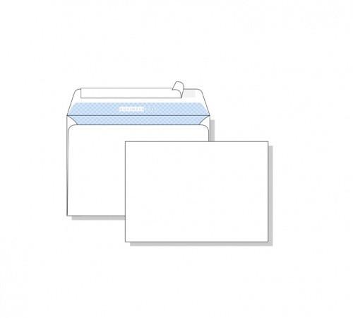 Конверт С6, 114*162, белый,80 гр, отрывная лента, тангир, клапан по длинной стороне