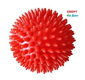 Массажер ежик , массажный мячик для фитнеса 9 см (цвет красный)