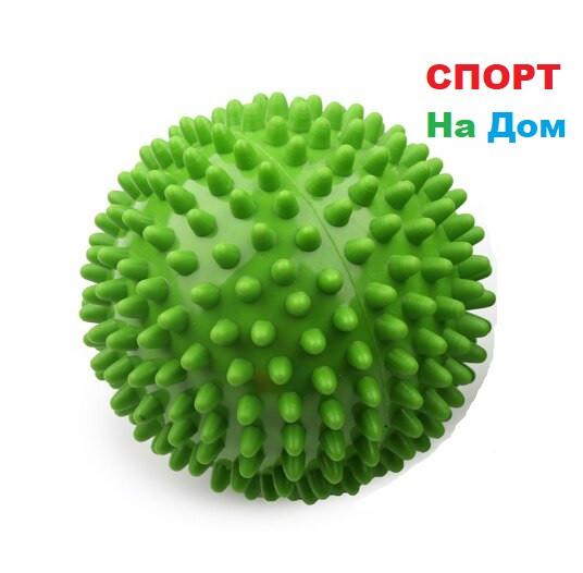 Массажер шарик, массажный мячик для фитнеса 9 см (цвет зеленый)