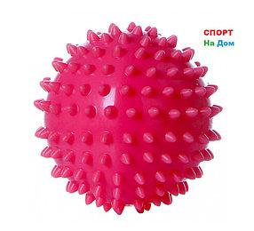 Массажер ежик, массажный мячик для фитнеса 7 см (цвет розовый)