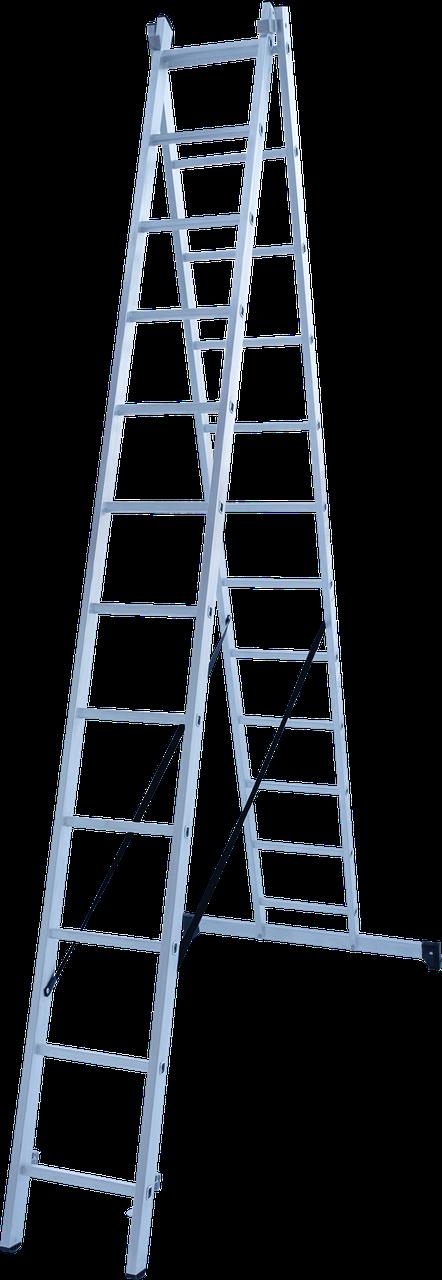 Лестница двухсекционная 2х12