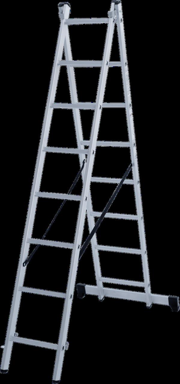 Лестница двухсекционная 2х8