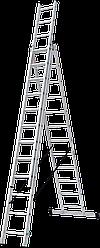 Лестница трехсекционная NV100, 3*12