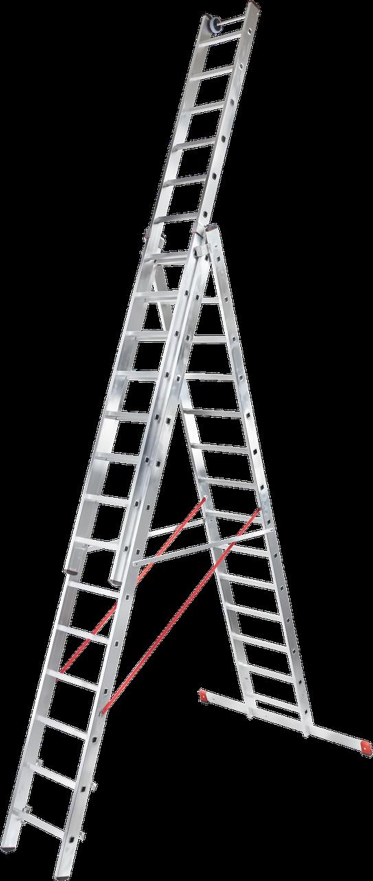 Лестница трехсекционная NV300, 3x17 усиленная