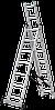 Лестница трехсекционная NV100, 3*7, фото 5