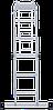 Лестница-трансформер NV 100 4х5, (5,41 м), фото 6