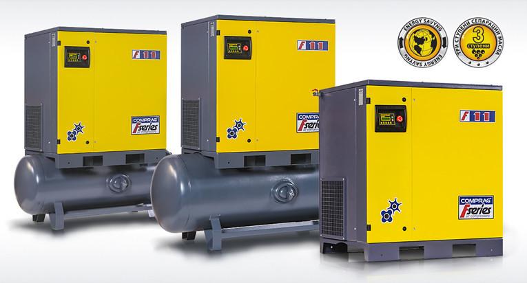 Компрессоры серии F производительностью до 2,3 м3/мин cо встроенным осушителем мощностью 15,0кВт