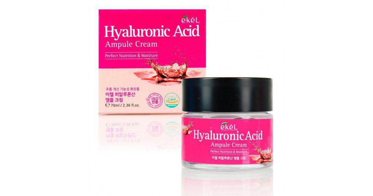 Ekel Hyaluronic Acid Ampule Cream Ампульный крем с Гиалуроновой Кислотой 70мл.