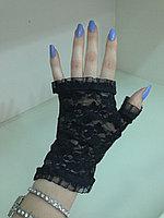 Гипюровые короткие без пальцев (черные,белые,красныеб,бежевые,розовые)