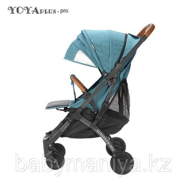 Прогулочная коляска YOYA PLUS 4 2019 Морская волна черная рама