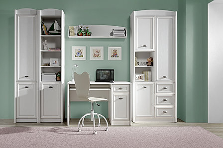Шкаф стеллаж 1Д  (Salerno REG1DP), коллекции Салерно, Белый, Гербор (Украина), фото 2