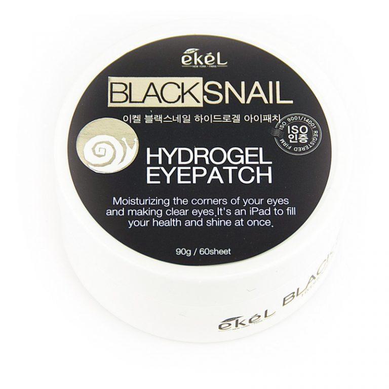 Ekel Black Snail Hydrogel Eye Patch Гидрогелевые Патчи с Муцином Черной Улитки(60шт.)