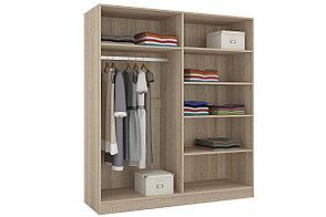 Шкаф для одежды 4Д  Уют 1, Белый, Горизонт (Россия), фото 2