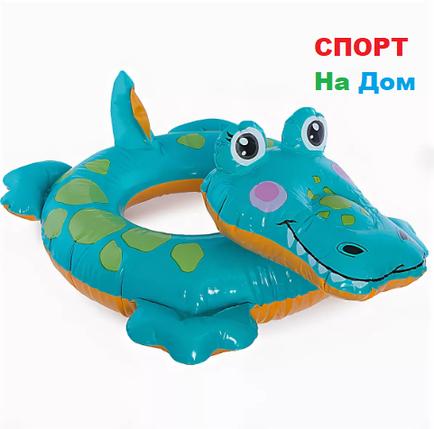 Надувной детский плавательный круг Крокодил Intex 58221 (71 см * 56 см), фото 2