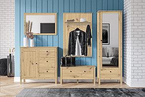 Шкаф для одежды 1Д , модульной системы Хельга, Дуб Артизан, БРВ Брест (Беларусь), фото 2