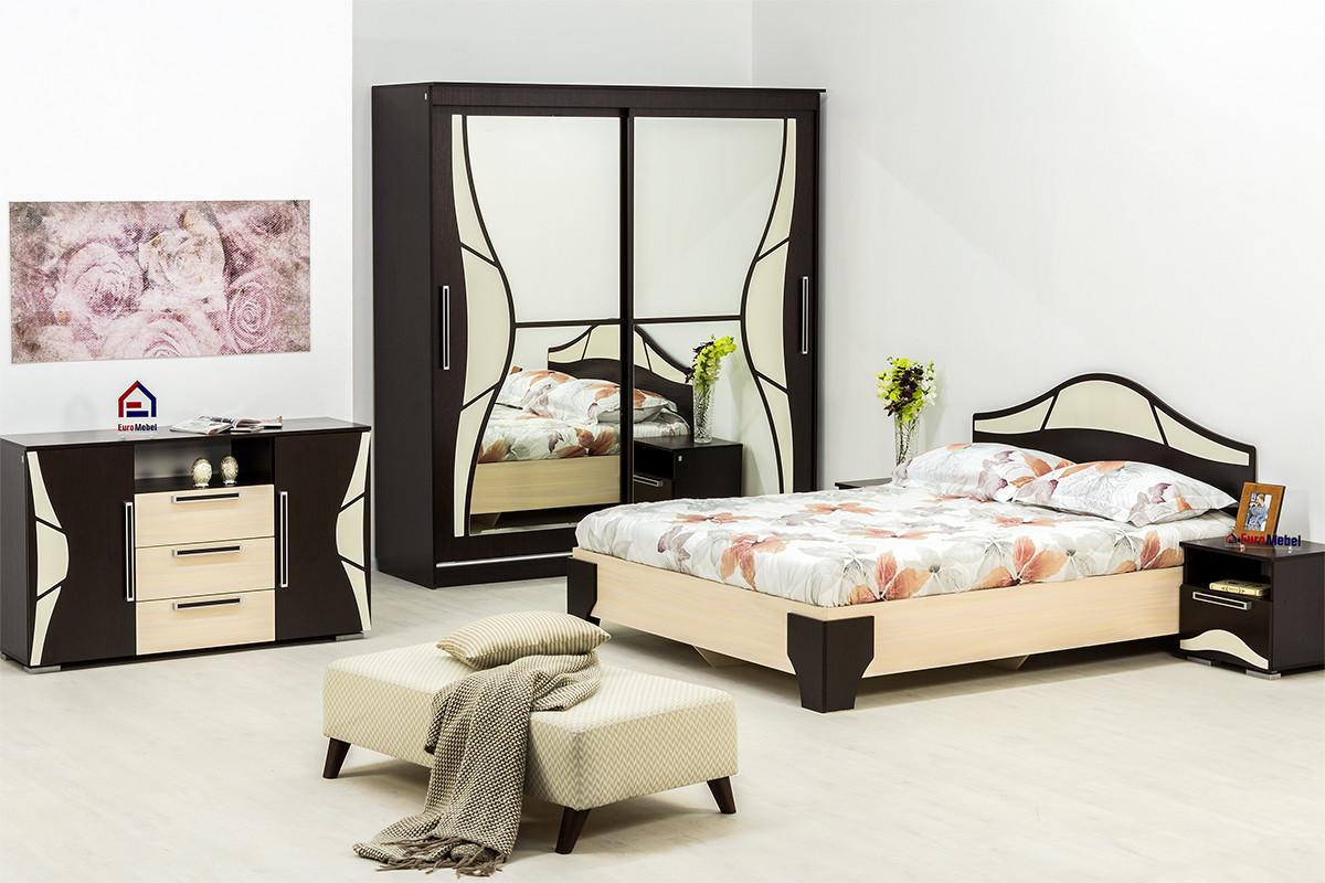 Комплект мебели для спальни Лагуна 5, Дуб Млечный, СВ Мебель(Россия)