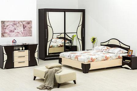 Комплект мебели для спальни Лагуна 5, Дуб Млечный, СВ Мебель(Россия), фото 2