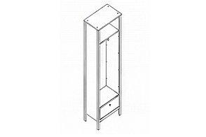 Шкаф для одежды 1Д , модульной системы Хельга, Белый Белый, БРВ Брест (Беларусь), фото 2