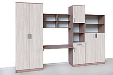 Шкаф для книг Неопределена 2Д  как часть комплекта Город, Ясень Шимо светлый, СВ Мебель (Россия), фото 2