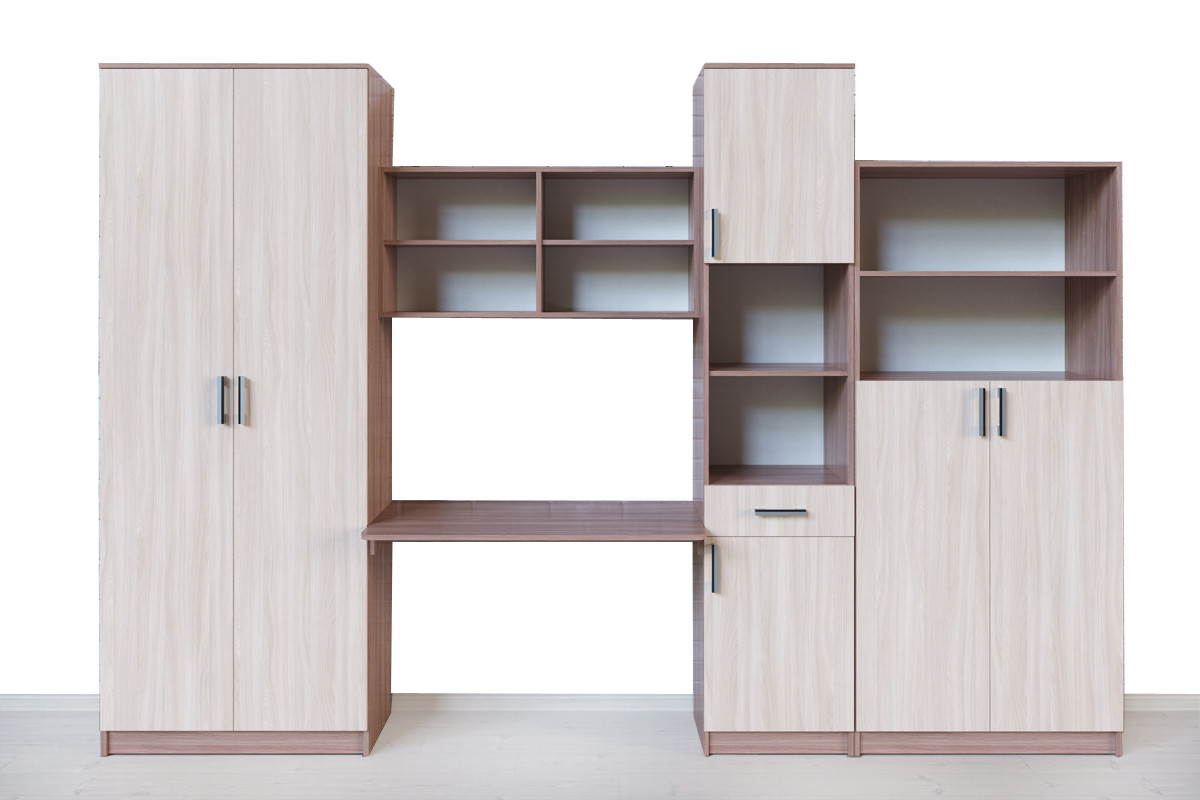 Комплект мебели для детской Город, Ясень Шимо светлый, СВ Мебель(Россия)