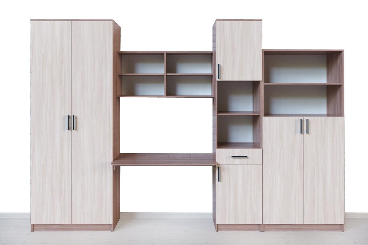 Шкаф для книг Неопределена 2Д  как часть комплекта Город, Ясень Шимо светлый, СВ Мебель (Россия)