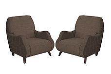 Кресло традиционное как часть комплекта Робби, ТК233 Коричневый, Нижегородмебель и К (Россия), фото 2