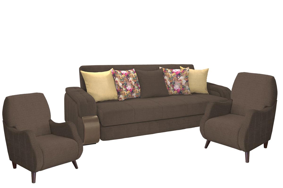 Комплект мягкой мебели Николь, Коричневый, Нижегородмебель и К(Россия)