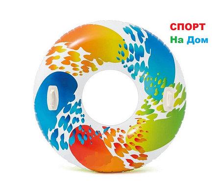 Надувной круг для плавания 122 см с ручками, Intex 58202, фото 2
