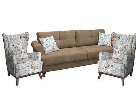 Кресло традиционное как часть комплекта Оскар, ТК309 Цветы, Нижегородмебель и К (Россия), фото 2