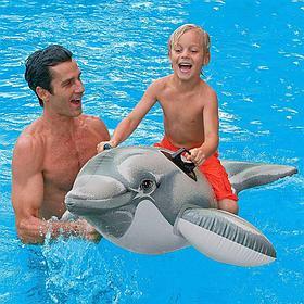 Надувная игрушка-наездник 175 см Intex Дельфин 58535