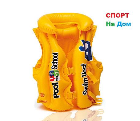 Детский надувной жилет для плавания 50х47 см 3-6 лет, Intex 58660, фото 2