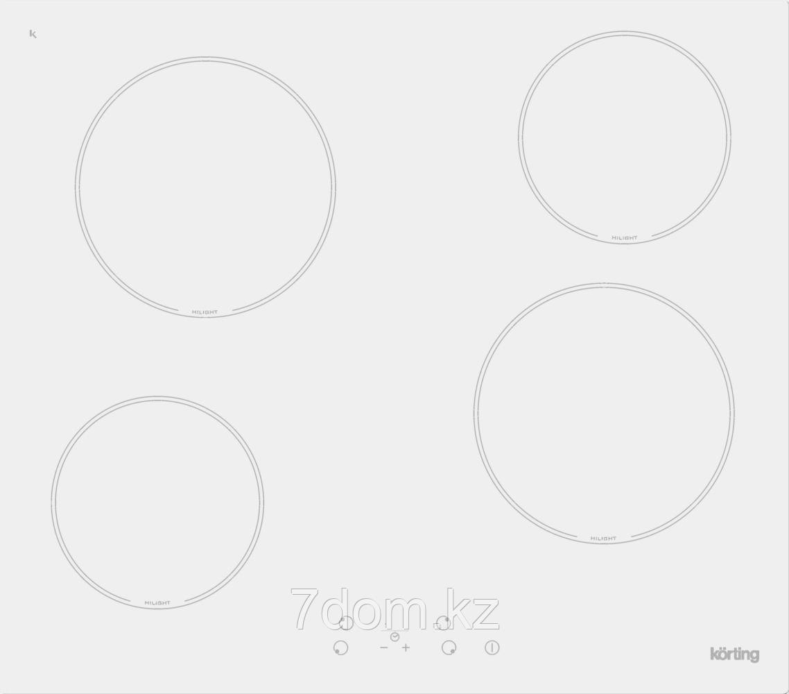 Встраиваемая поверхность керамическая Korting HK 60001 BW