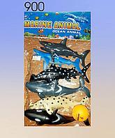 Набор морских животных.