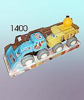 Инерционная машина,  пластмассовая, погрузчик и камаз.