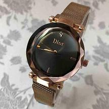 Часы женские водонепроницаемые Dior на магнитной застёжке [качественная реплика] (Серебро с блестками), фото 2