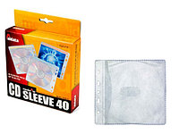 Файл для CD/DVD прозрачный белый