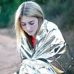 Покрывало спасательное изотермическое. Серебро/Серебро 210X160cm. Алматы - фото 1