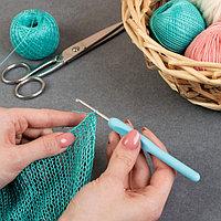 Крючок для вязания, с пластиковой ручкой, d = 2,5 мм, 14 см, цвет МИКС