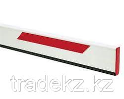 FAAC 428090 стрела прямоугольная с демпфером и светоотражающими наклейками, 25х90х3815 мм