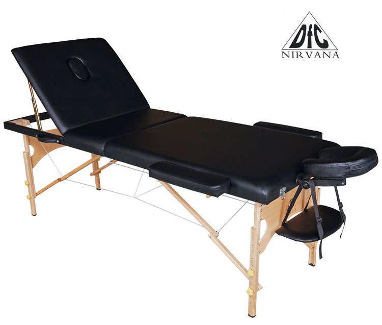 Складной массажный стол DFC Nirvana Relax Pro Black (черный)