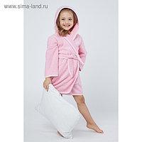 Халат махровый для девочки, рост 98-104 см, цвет розовый