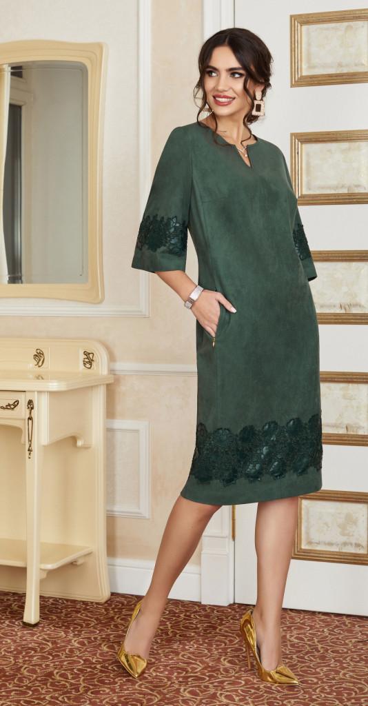 Платье Lissana-3855, зеленый, 52