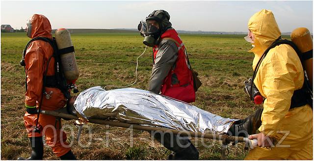 Покрывало спасательное изотермическое. Серебро/Серебро 210X160cm. Алматы - фото 4