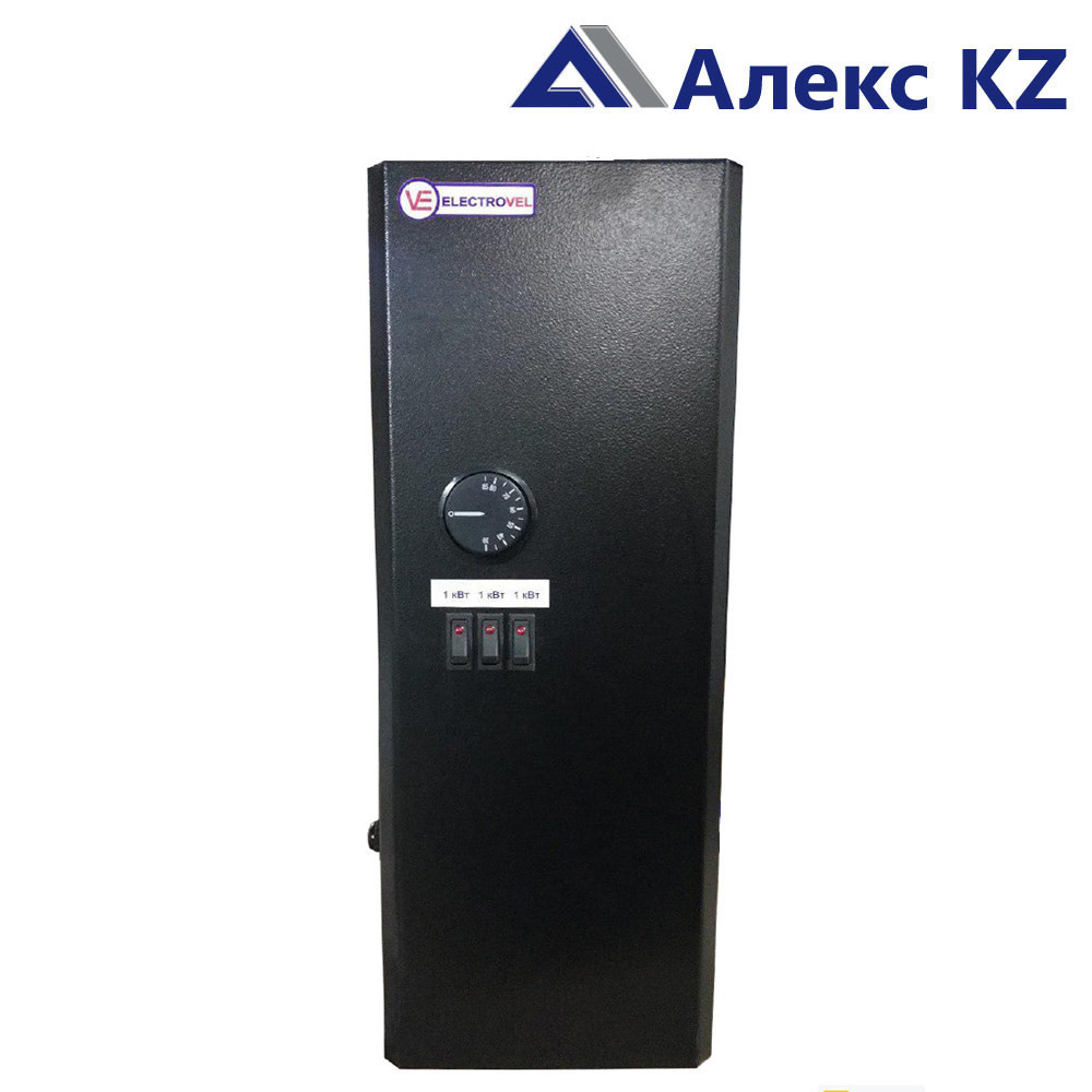 """Электрокотёл """"ElectroVel"""" 1 1/4 ЭВПМ-9 кВт (380) НВ (Авт) черный"""