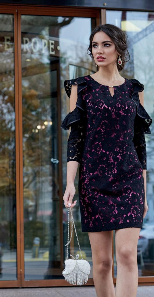 Платье Lissana-3807, темно-синий, 44