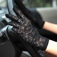 Гипюровые перчатки весна/лето для вождения от солнца