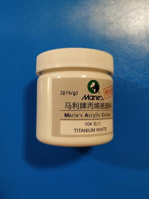 Краска акриловая MARIE`S 100 мл, Белая