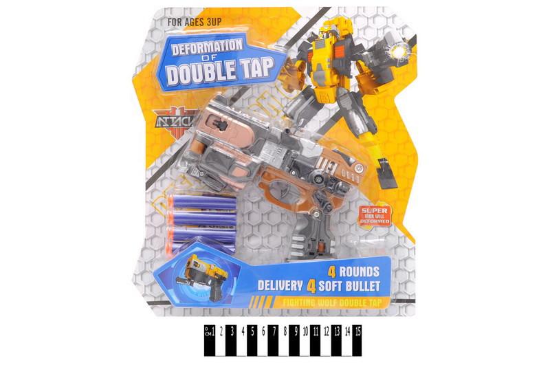 Немного помтая упаковка!! HW-501 Бластер трансформер DEFORMATION OF DOUBLE TAP 32*28