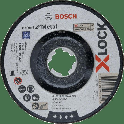Шлифовальный круг по металлу Bosch,  X-LOCK Expert for Metal, 125x6x22,23,