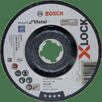 Шлифовальный круг по металлу Bosch,  X-LOCK Expert for Metal, 125x6x22,23,, фото 2